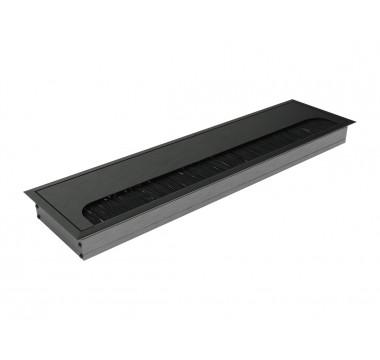 Заглушка для кабеля врезная Virno Lines 80/300 черный