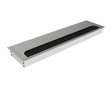 Заглушка для кабеля врезная Virno Lines 80/300 алюминий