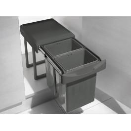 Відро 2х7.5л висувне для сміття INOXA ардезія