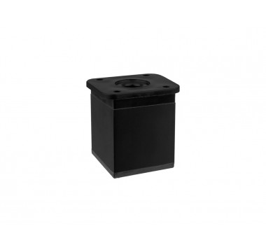 Ножка мебельная регулируемая квадратная GIFF NA02 Н-50 черный