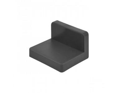 Угол монтажный пластиковый черный (металл+пластик)
