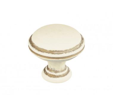 Ручка кнопка Gamet GR49-L45 кремовый матовый с золотой патиной