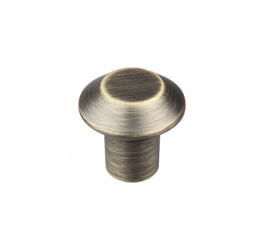Ручка кнопка GIFF 3/301 браш античная бронза