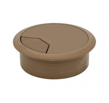 Заглушка кабельная пластиковая орех лесной (светло-коричневый)