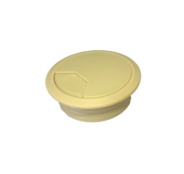 Заглушка кабельная пластиковая клен (ваниль)