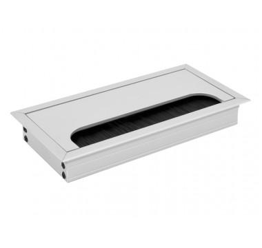 Заглушка для кабеля врезной Virno Lines 80/160 алюминий