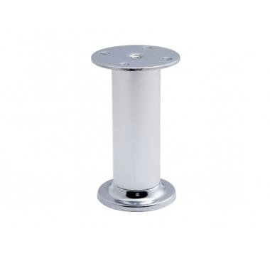 Ножка мебельная регулируемая цилиндрическая GIFF NA10 T1 Н=100 алюминий