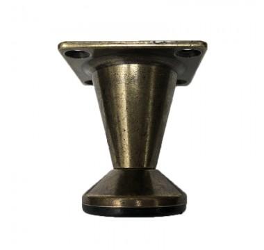 Ножка мебельная регулируемая коническая H=50мм бронза